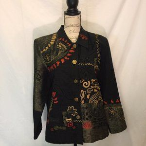 Ultimate Jacket Black with Embroidery Size L